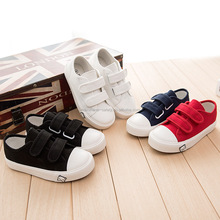 Hotest selling new design canvas cloth rubber sole kids canvas shoes