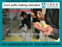 Jinan Eagle Puffed corn flour pop chips flower shape snacks food making extruders machines/equipment tested for India