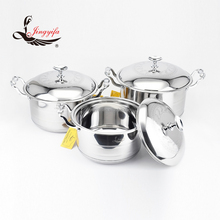 Elegant large kitchen stainless steel pot 16cm to 30cm cookware set
