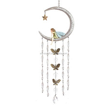 Personalized Handmade Color Garden Moon Wind Chimes