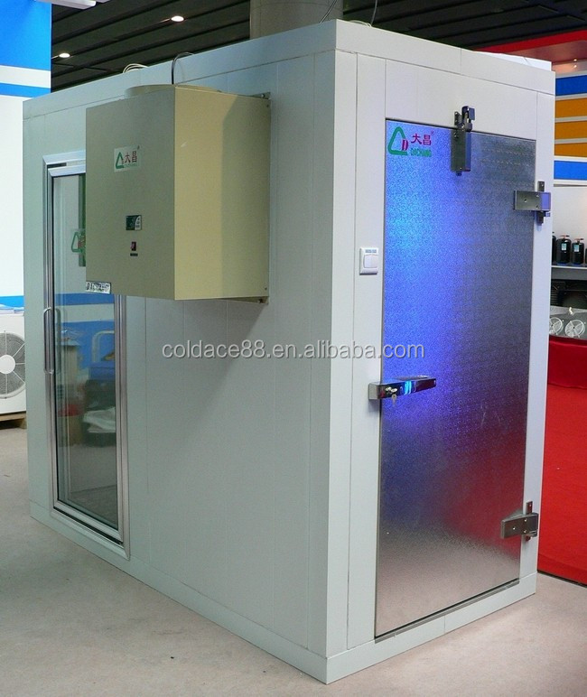 Standard Solar Energy LED coldroom Walk in Freezer with Glass Doors