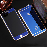 For apple iphone 6s tempered glass colored plated mirror effect screen protector