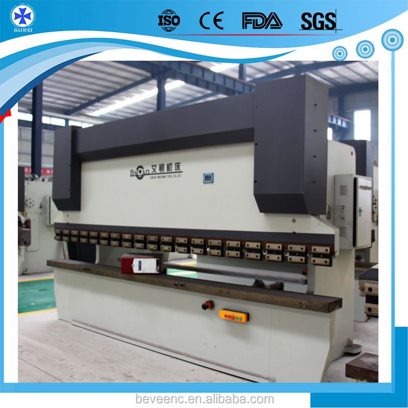 With Germany Wlan machinery Manual 100t Metal Sheet Bending Folding Machine for carbon steel and stainless steel