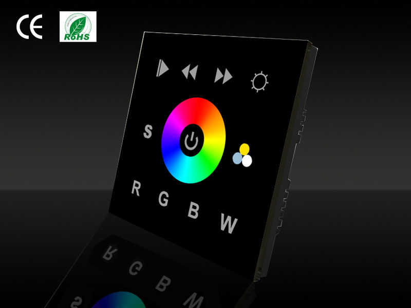 touch screen wall glass dmx512 rgb touch RF dimmer remote wall