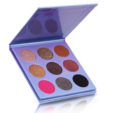 Wholesale oem cosmetics Makeup suppliers china private label 9 colors eyeshadow palette