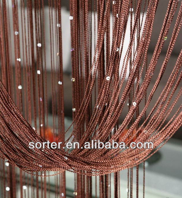 decorative polyester string curtain