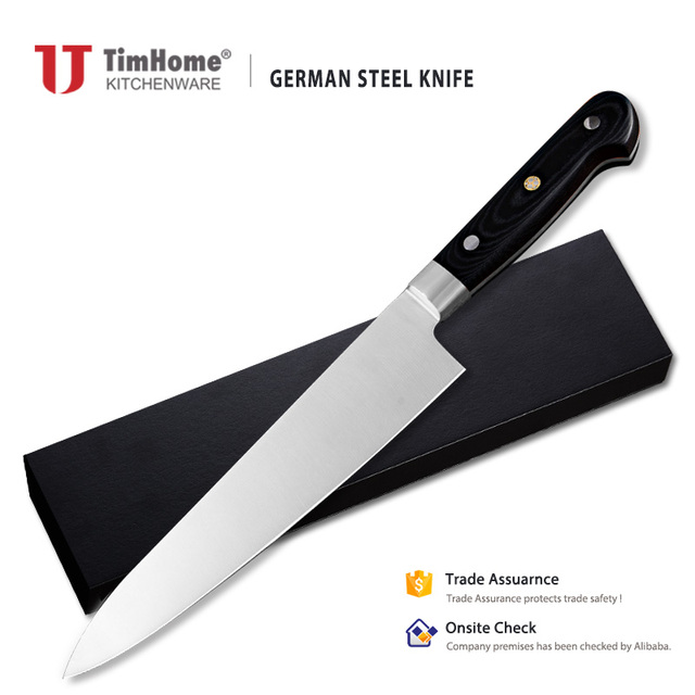 8inch German 1.4116 Stainless Steel Kitchen Knife Micarta Handle