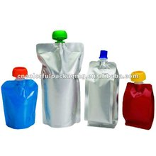 2013 reusable baby food spout pouch with zipper and rounder corner