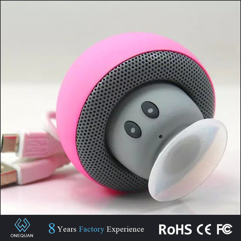 Portable arrival Lovely cute mushroom mini wireless bluetooth <strong>speaker</strong> for gift