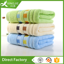 3 pc bulk pack unbleached cotton towel/ cheap face towels for home or hotel drying