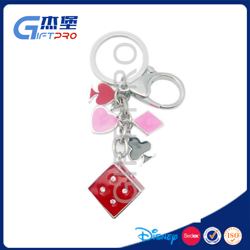 lucky cube keychain bringin lucky for gambling