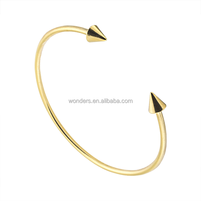 Fashion Jewelry 2017 Two Arrowhead Adjustable Bangle Bracelet Metal Friendship Bracelets For Women Gold Silver Plated