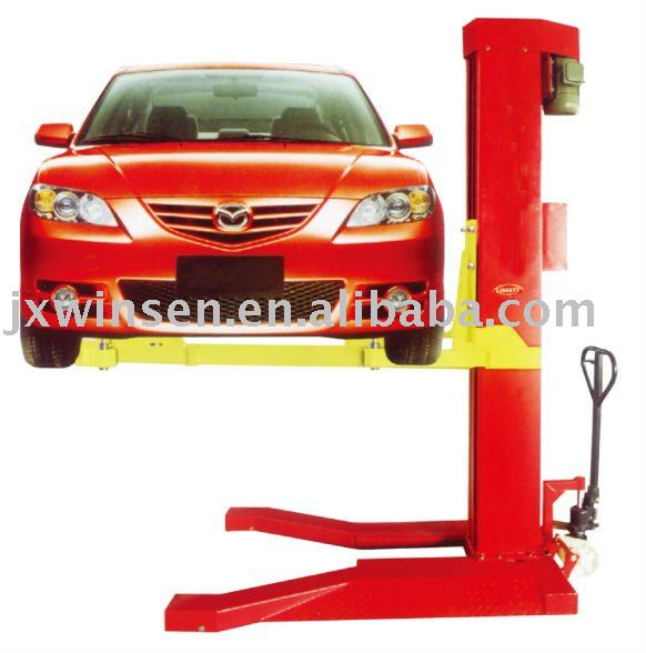 mechanical single pole mobile lift