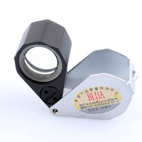 BIJIA 10x18 metal jewelry uv light magnifier with led light magnifying glass