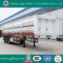 China manufacturer 3 axle 10 bundle tube skid CNG long tube tank semi truck trailer for sale
