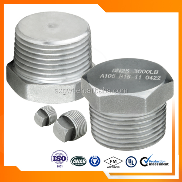 "Trade Assurance 3/4"" high pressure threaded end hex head plug"