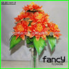 home&wedding decoration,9 heads orange cheap wholesale gerbera daisy artificial flowers bush making