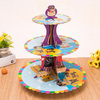 Cartoon character cardboard stacked Party dessert stand cupcake tower