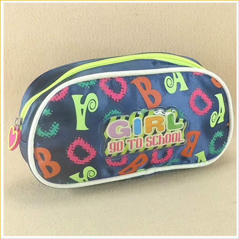 Yiwu Bag Factory fashion beauty satin nylon mini zippered cable ladies bulk makeup pouch custom travel cosmetic bag