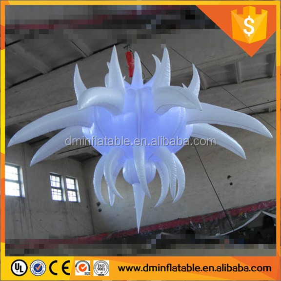 Hot sale 2017 wedding attractions led hanging inflatable star