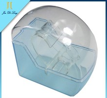 Sky Blue Waterproof Lucency Watches Case Plastic Watch Box Display
