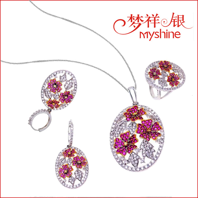 hot sale silver jewellery online china wholesale 925 silver jewelry set