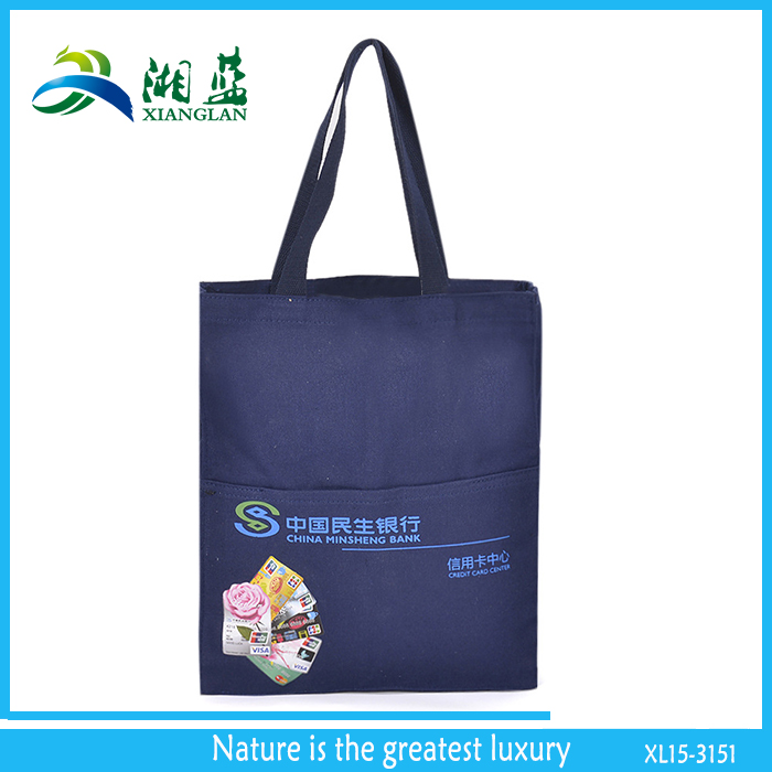 promotional standard size full color printing cotton tote bags