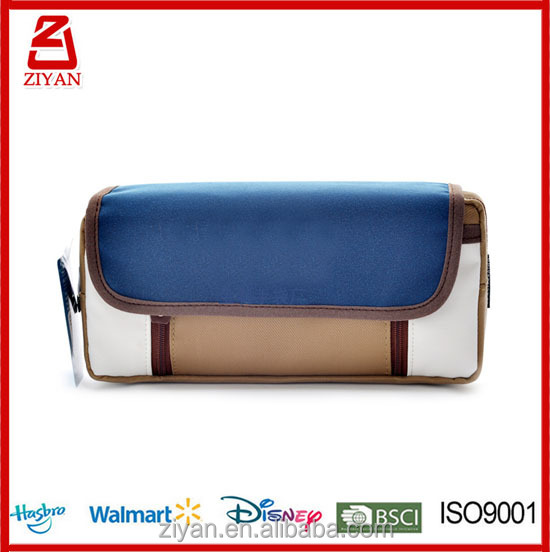 Students Super Large Capacity Pu Pencil Case Pen Bag Pouch Stationary Case Makeup Cosmetic Bag