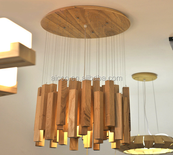 Christmas Ornaments Interior Decoration Natural Wood Commercial Led Pendant Lighting Buy New