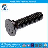 Made in China high tension carbon steel black plow bolt