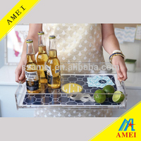 Wholesale Custom Made Acrylic Serving Tray for Families