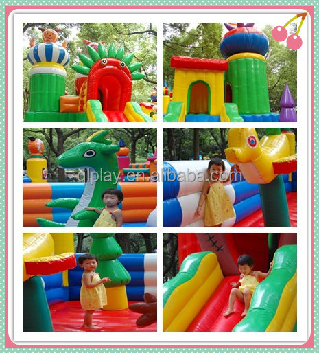 Commercial kids inflatable trampoline Children Funny Park