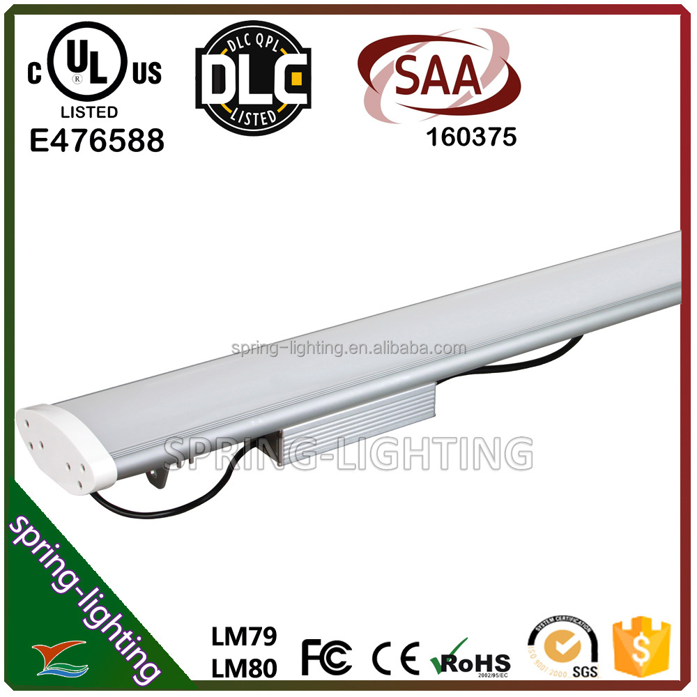 UL DLC CUL SAA listed 50w 60w 100w 120w Aluminium body and PC cover 120 degree beam angle LED linear light for display cabinets