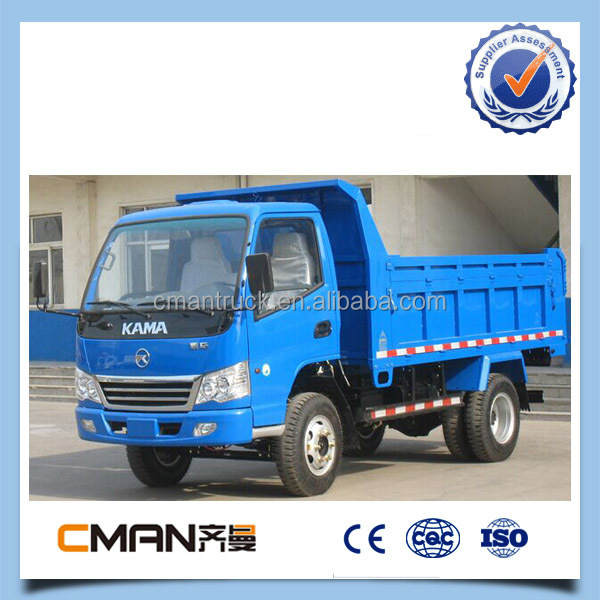 China kama brand light 4wd dump truks 5 ton for sale