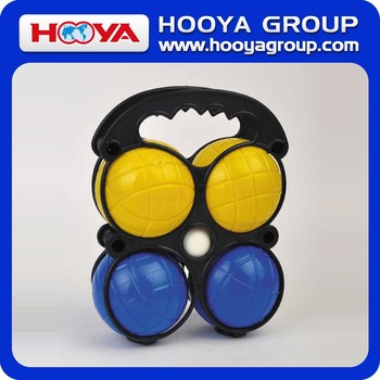 Dia.7cm PE bocce ball set