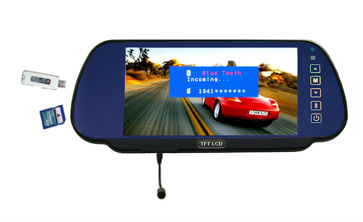 bluetooth handsfree car ket mirror