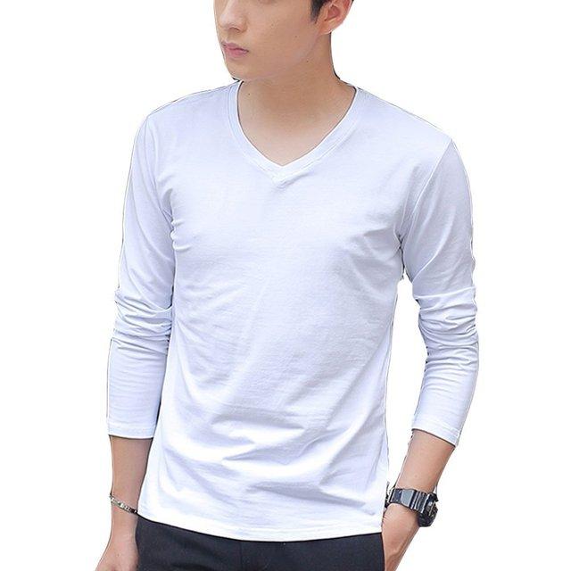OEM bulk wholesale clothing 180 gsm custom label white 100% cotton plain long sleeve men t shirts