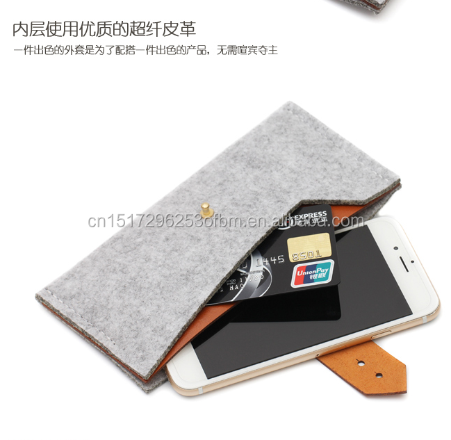 2017 hot new products felt mobile phone cover for oppo a37 vivo v3 p10