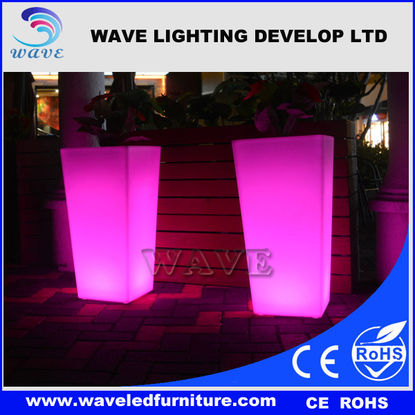 RGB Cheap Waterproof Outdoor Glow LED Flower Pot