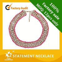 Free shipping beaded statement necklace,wholesale indian jewelry,22k gold kundan necklace