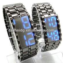iron samurai japanese inspired led watch for wholesale