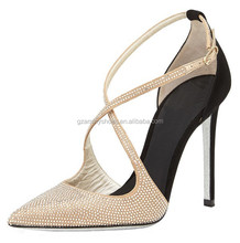 2015 Fashion lady high heel sandals sexy women heels leather rhinestone elegant shoes dress shoes
