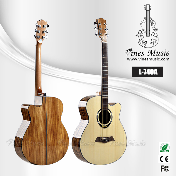 40inch AAA Spruce Top Nature color acoustic guitar for China music instruments wholesale price (L-740A)
