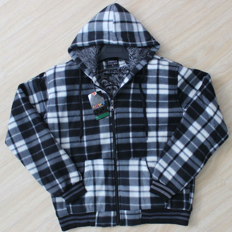 Smart Casual Clothing Ropa De Hombre Fleece Plaid Hoodies With Pocket Hooded