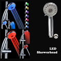 Rainbow Colorful led spray hand shower with temperature control