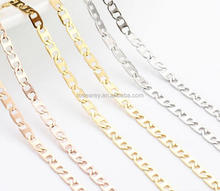 2017 new trending stainless steel rectangle shaped long chain