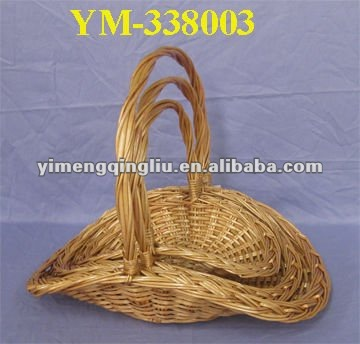 full willow basket shining