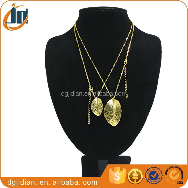 Fashion Plating 24k Gold Leaf Jewelry,Leaf Pendant