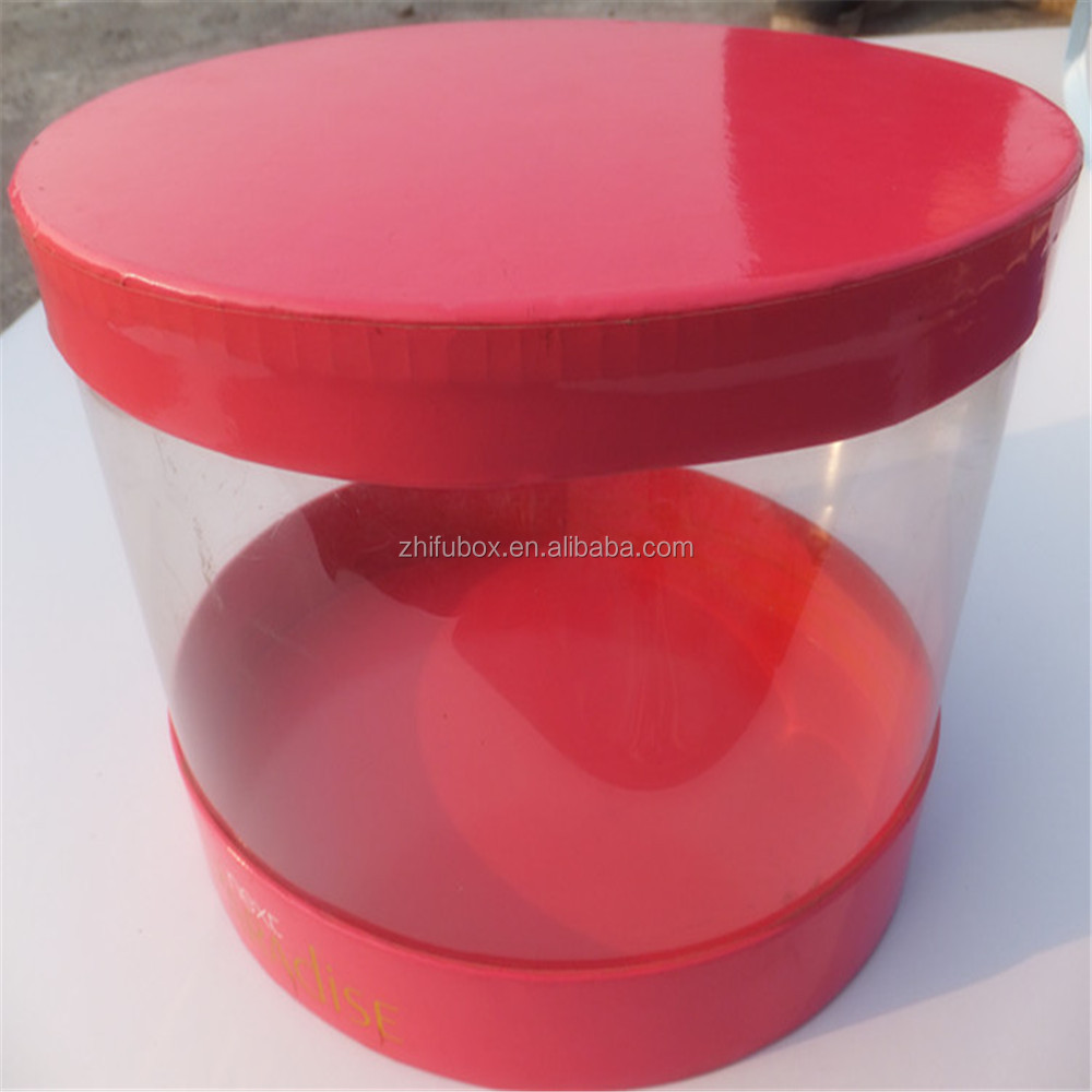 Stock PVC Storage Box, Cylinder Box Hat Box Plastic Tube Packaging