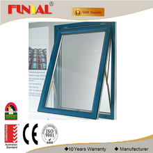 AS2047 aluminum window with AS2208 double glazed aluminum awning chain winder window